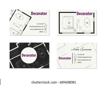 Interior Designer Business Card Templates Stock Vectors Images Vector Art Shutterstock