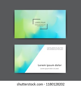 Business card design with abstract blurred background