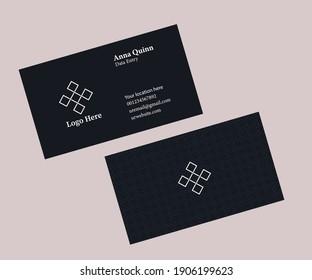Business card design in adobe Illustrator CC vector EPS version 10