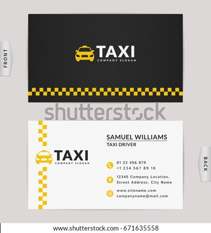 Business Card Design Black White Yellow Stock Vector Royalty Free