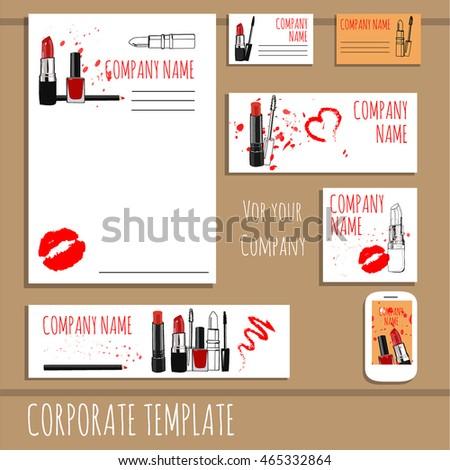 Business card design fashion cosmetics accessories stock vector business card design fashion cosmetics and accessories template vector make up sketch cosmetic colourmoves