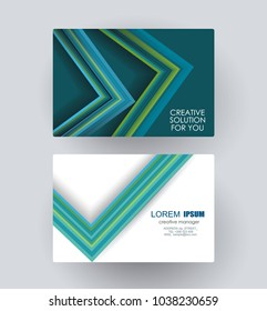 Business card design with poligonal  geometric composition, vector illustration.