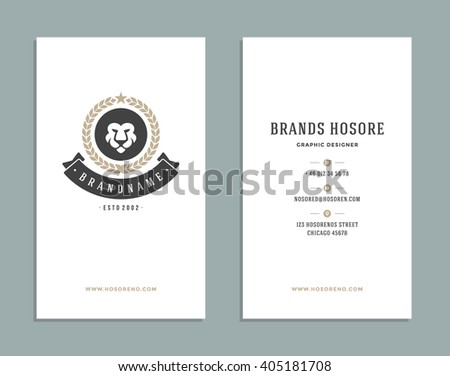 Business Card Design Retro Style Template Stock Vector Royalty Free