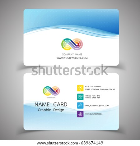 Business Card Design Set Modern Creative Stock Vector Royalty Free