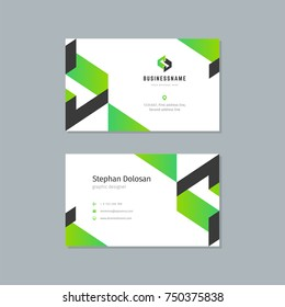 Business card design template abstract modern corporate branding style vector Illustration. Two sides with logo trendy colors background.