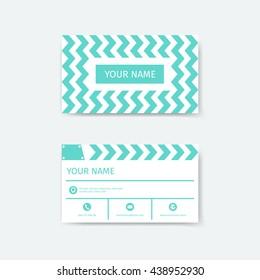 Business Card Design Template Clapboard Film Slate Concepts