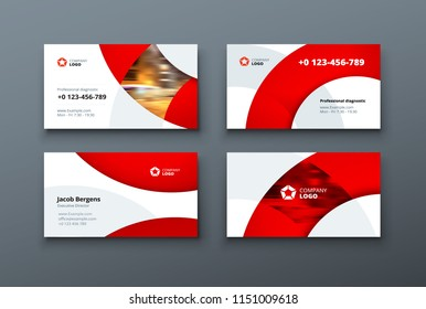 Business card design. Business card template for personal or corporate use. Vector