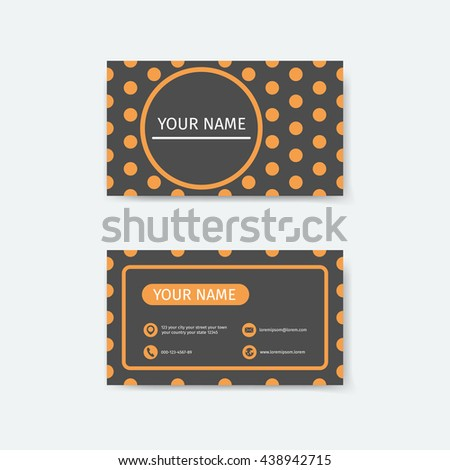 Business card design template polka dots stock vector royalty free business card design template polka dots concepts fbccfo Gallery