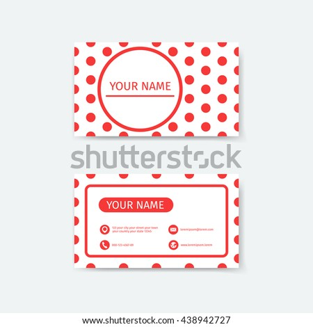 Business card design template polka dots stock vector royalty free business card design template polka dots concepts cheaphphosting Choice Image