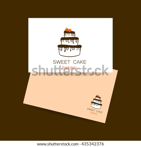 Business Card Design Template Sweet Cake Stock Vector Royalty Free