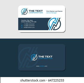 business card design template with a thunderstorm
