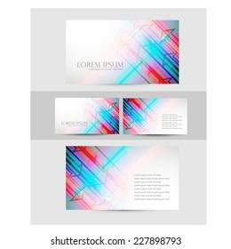 Business card design. vector