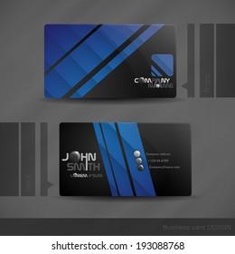 Business Card Design. Vector Illustration. Eps 10.