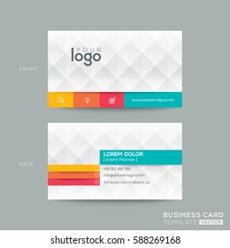business card with diamond grey pattern background