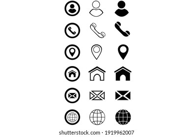 Business card, finance and communication icons. Vector illustration EPS 10.
