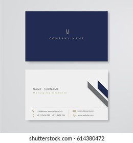 business card flat design template vector