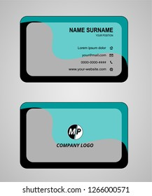Business card flat design vector