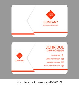 Business card flyer design with white background. Vector illustration