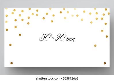 business card gold glittering vector illustration