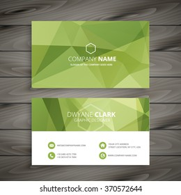 business card in green abstract background