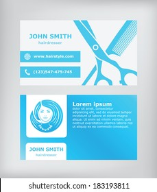 Business card. Hairdresser.