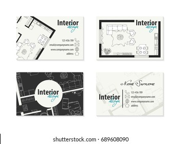 Interior Design Business Cards Creative Images Stock Photos