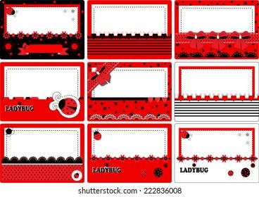 Business Card ladybug vector illustration art cute