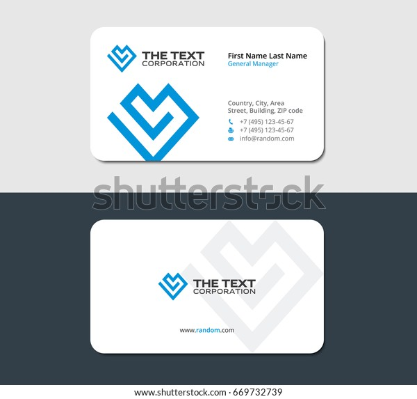 business card for the life insurance company