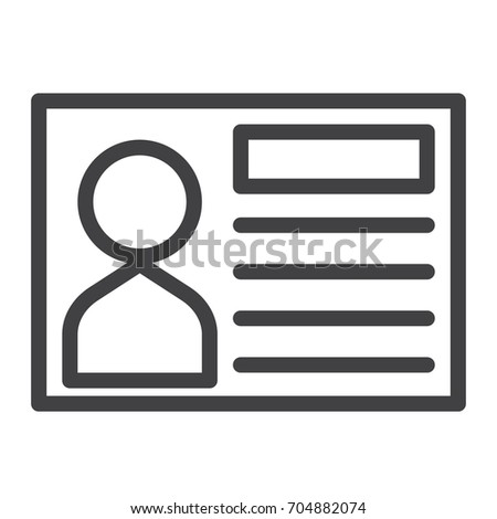 Business card line icon outline vector stock vector royalty free business card line icon outline vector sign linear style pictogram isolated on white colourmoves