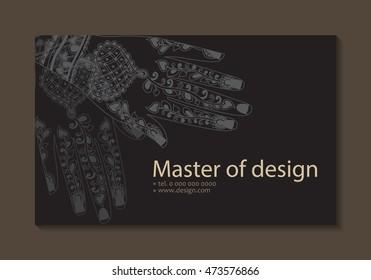 Business Frau Visitenkarte Stockillustrationen Bilder Und