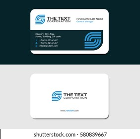 Business card telecommunication red color two stock vector royalty business card media blue color two sided cards white background reheart Images