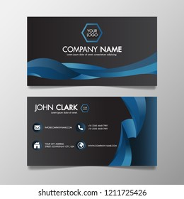 Business card template images stock photos vectors shutterstock business card modern blue and black template creative and clean illustration abstract colorful bright color flashek Gallery