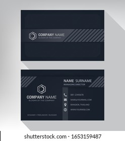 Business card in modern style black gray white