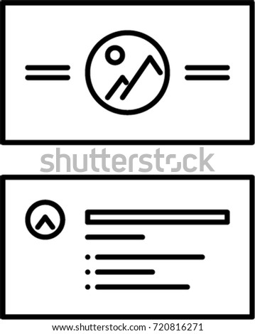 Business card outline icon stock vector royalty free 720816271 business card outline icon colourmoves