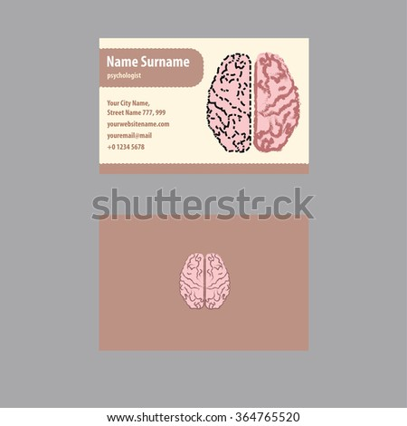 Business card psychologist psychiatrist stock vector royalty free business card for psychologist and psychiatrist colourmoves