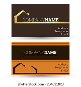 business card real estate sales, vector