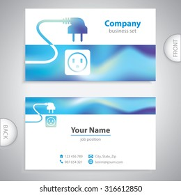 Electrician Business Card Images Stock Photos Vectors Shutterstock