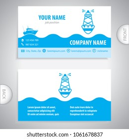 business card - Sea buoys - marine buoy - maritime symbols - company presentations