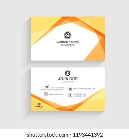 Business card set template creative wave design vector