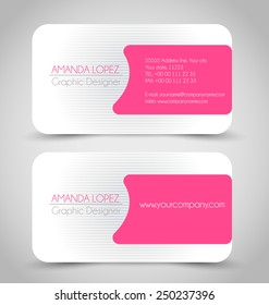 Pink business card images stock photos vectors shutterstock business card set template for business identity corporate style pink and silver color vector fbccfo Image collections