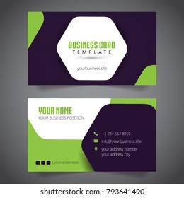 Business Card Simple Minimalis. Vector Template.