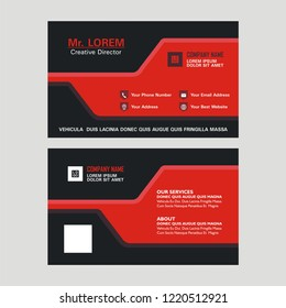 Business Card With Stylish And Modern Design