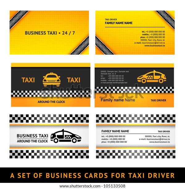 Visitenkarten Taxi Templates Mit Dritter Stock