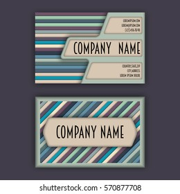 Business card template 3 d paper colorful stock vector royalty free business card template with 3d paper colorful lines background cheaphphosting Choice Image