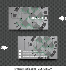 Business card template with abstract background.  Eps10 Vector illustration.