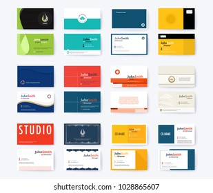 Business card template abstract concept and commercial design. vector illustration