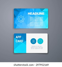 Modern simple business card template vector stock vector royalty business card template abstract vector template layout design for flyer placard brochure or cheaphphosting Gallery