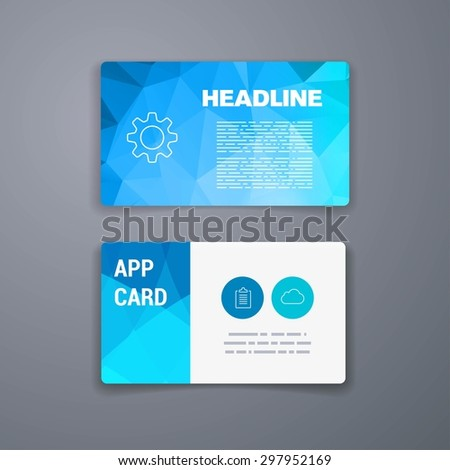 Business card template abstract vector template stock vector business card template abstract vector template layout design for flyer placard brochure or friedricerecipe Choice Image