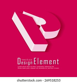 Business card template with alphabet letter P. Vector design element