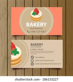 Business card bakery images stock photos vectors shutterstock business card template for bakery business vector illustration reheart Gallery